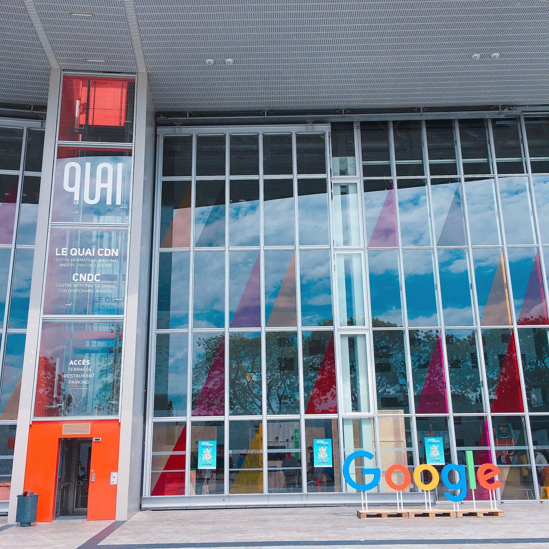 Google avec Angers: façade du Quai
