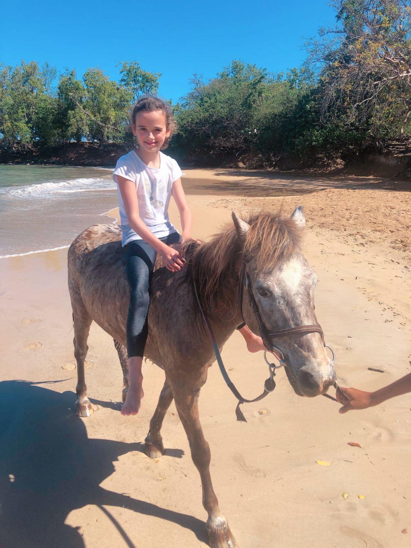 guadeloupe - clugny - rando cheval - baignade