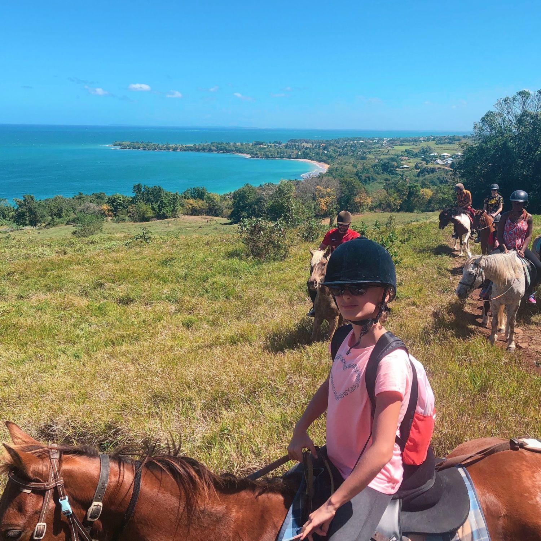 guadeloupe - clugny - rando cheval - ranch 2 ilets