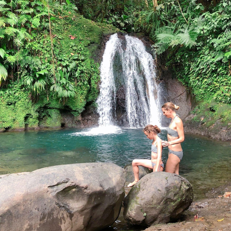 guadeloupe - cascade écrevisses - baignade enfants