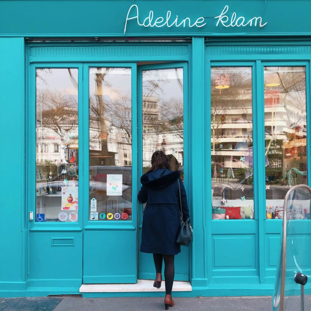 Paris - Adeline Klam - boutique - vitrine