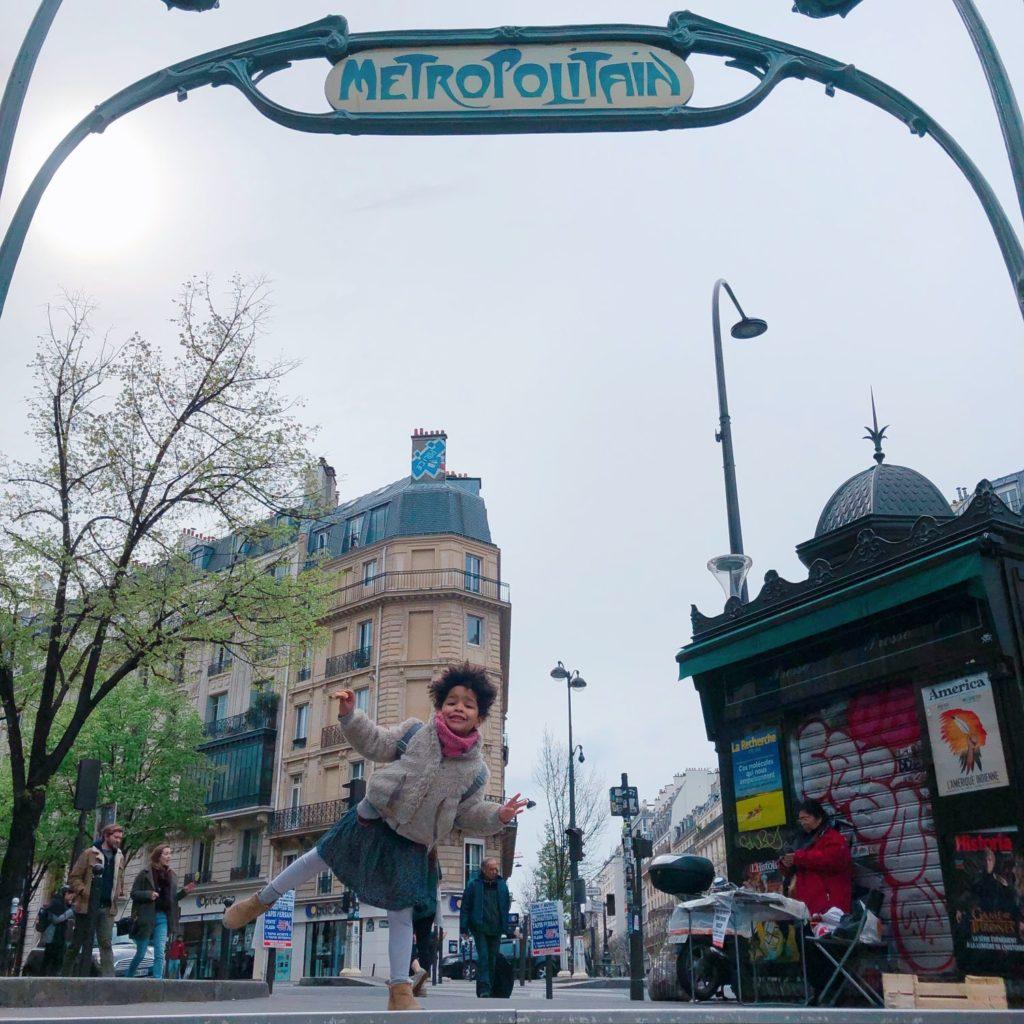 entrée métro Parmentier - Paris
