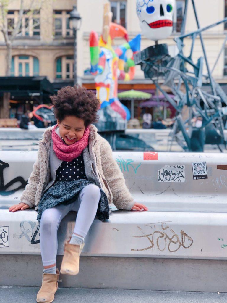fontaine Niki de Saint-Phalle - Paris - squelette