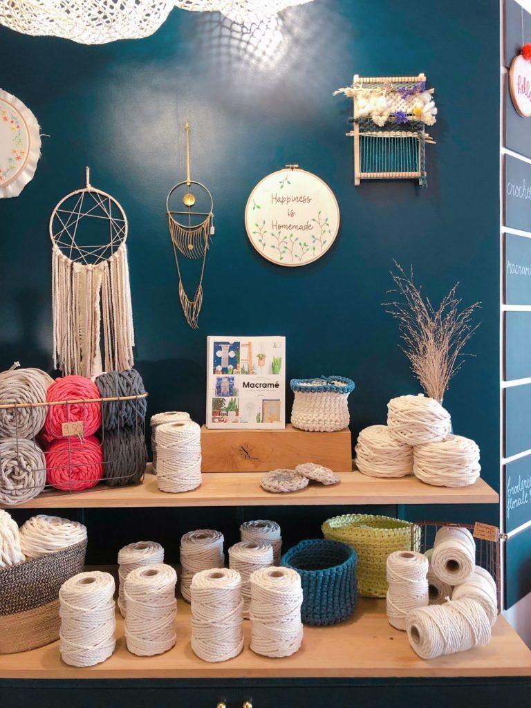 Seize Paris - intérieur boutique - bobines