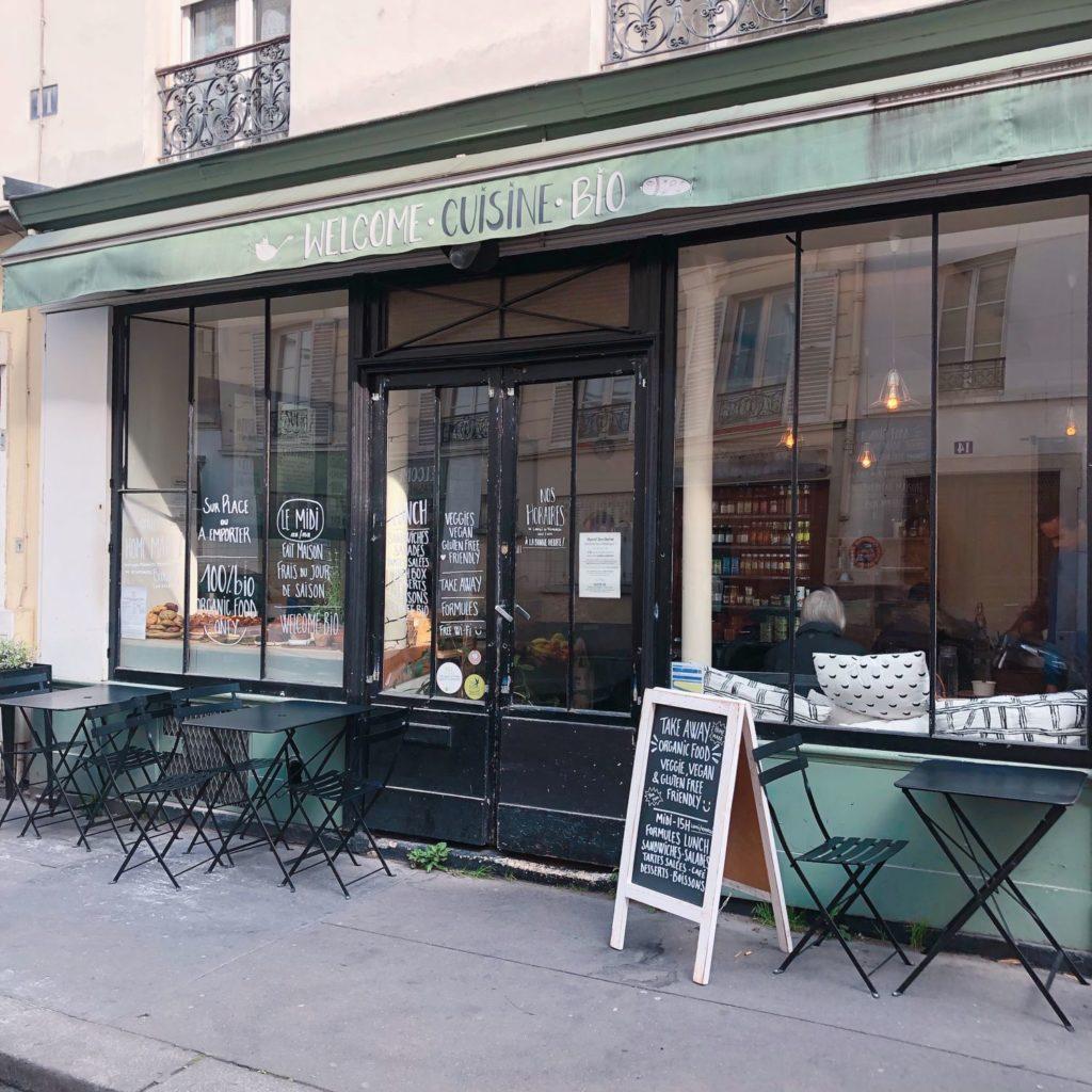 Welcome Bio Cuisine - Paris - vitrine extérieure